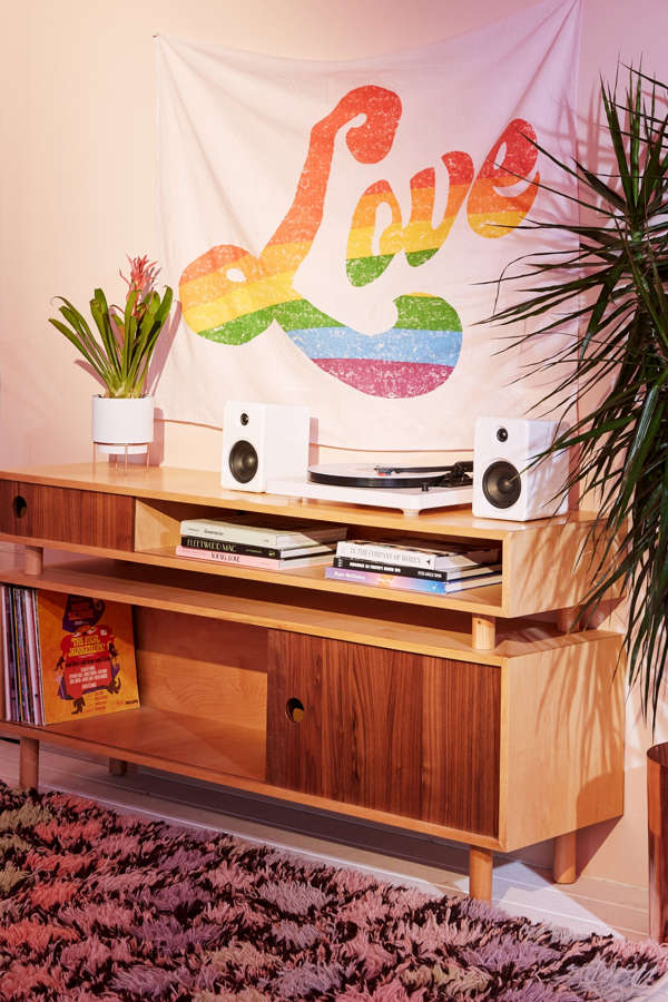 Slide View: 1: Rainbow Love Tapestry