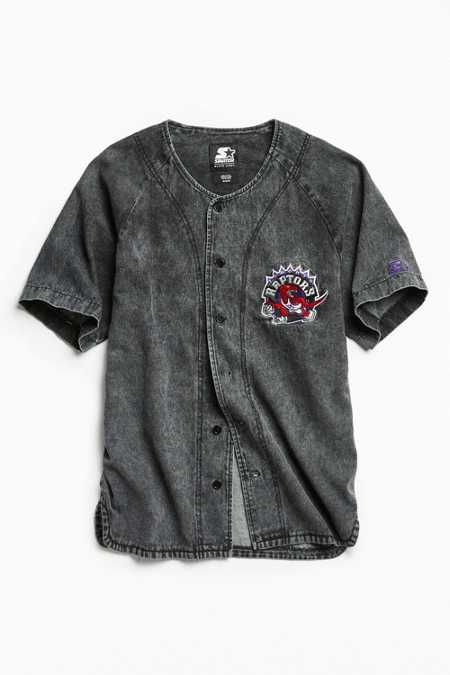 Starter X UO NBA Toronto Raptors Denim Baseball Shirt