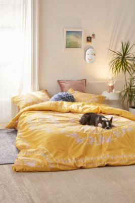 yellow bedding bed linens urban outfitters - Yellow Bed Frame