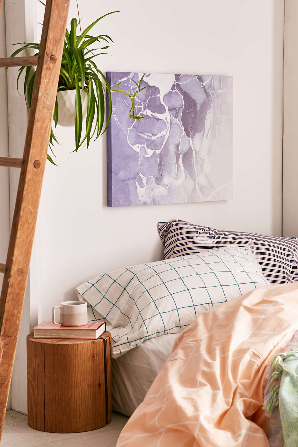 Urban Outfitters Wall Art emanuela carratoni for deny marble and rose canvas wall art