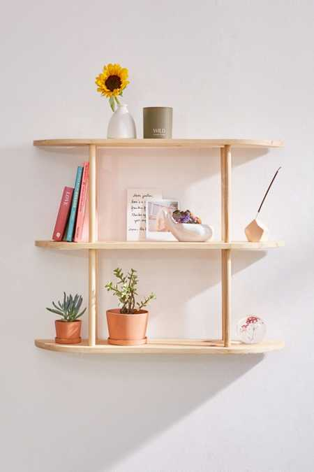 Louie Tri-Tiered Wooden Wall Shelf