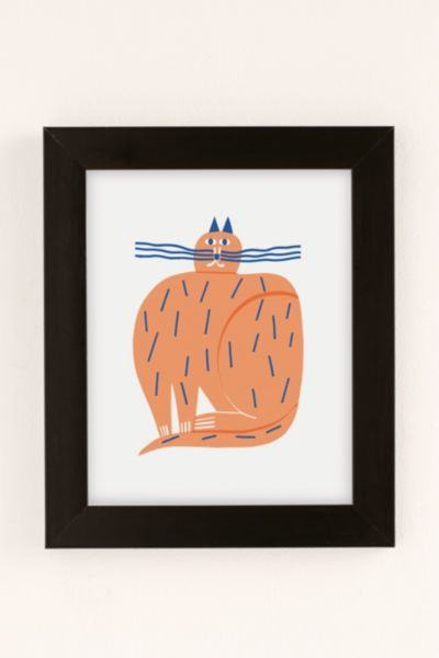 Marcus Oakley Cat Art Print - Black 8 X 10 at Urban Outfitters