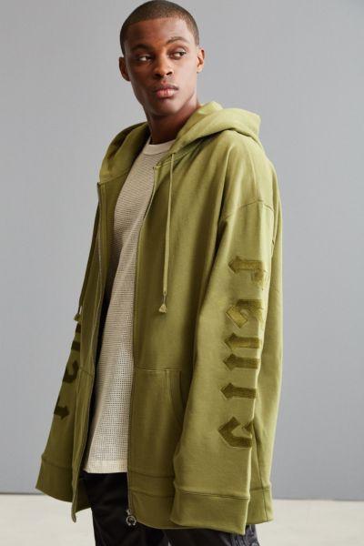 Puma Fenty By Rihanna Fleece Harness Hoodie Sweatshirt - Olive L at Urban Outfitters