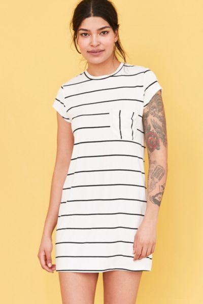 Cooperative Striped Pocket T-Shirt Dress