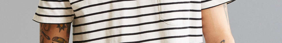 Thumbnail View 2: Nautical Stripe Long Loose Scoopneck Tee