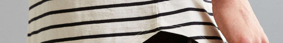 Thumbnail View 5: Nautical Stripe Long Loose Scoopneck Tee