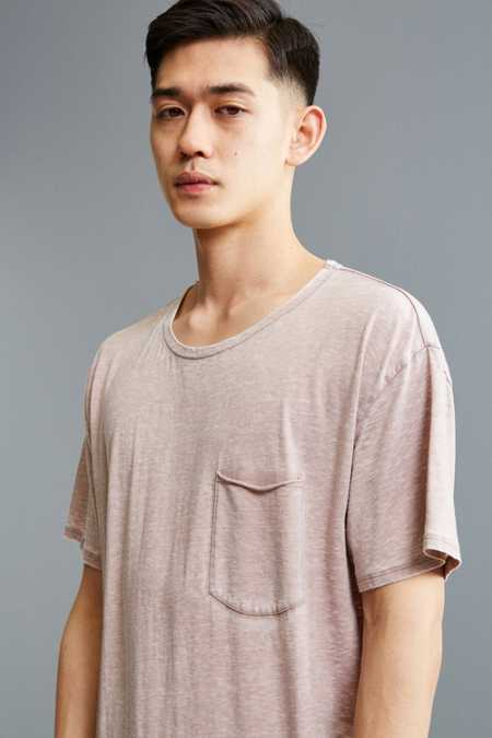 UO Burnout Long Loose Pocket Tee