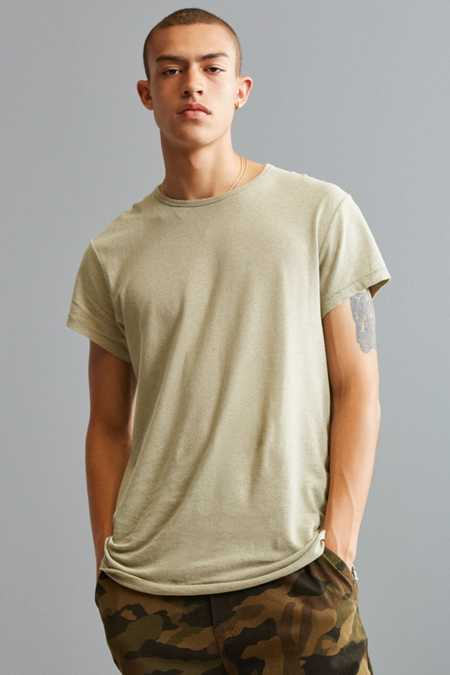 UO Linen Long Loose Tee