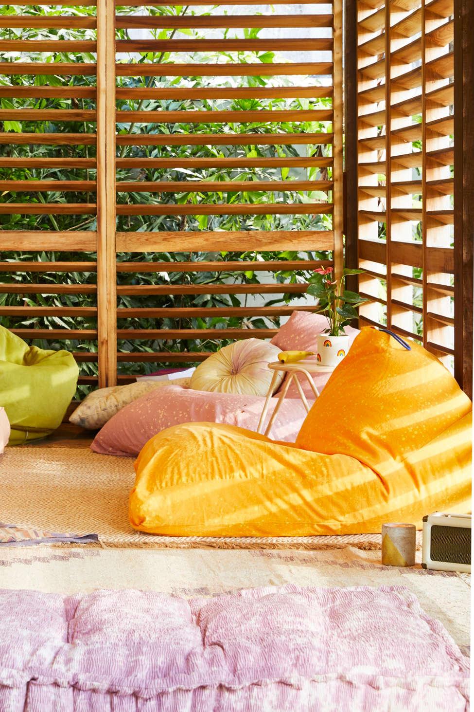 Slide View: 1: Triangle Bean Bag Lounge Chair