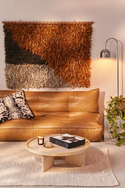 Neville Oversized Leather Shag Wall Hanging Urban Outfitters