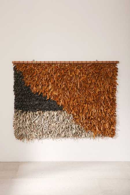 Neville Oversized Leather Shag Wall Hanging