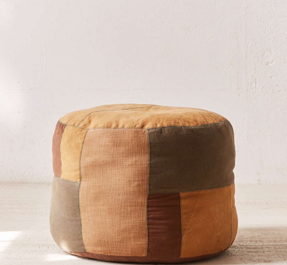 Slide View: 2: Patched Pouf