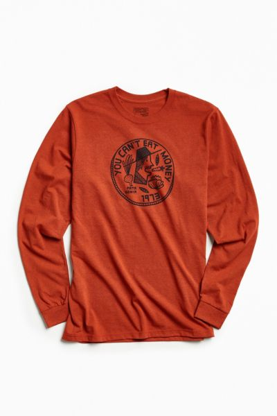 Patagonia Can't Eat Money Long Sleeve Tee - Red S at Urban Outfitters