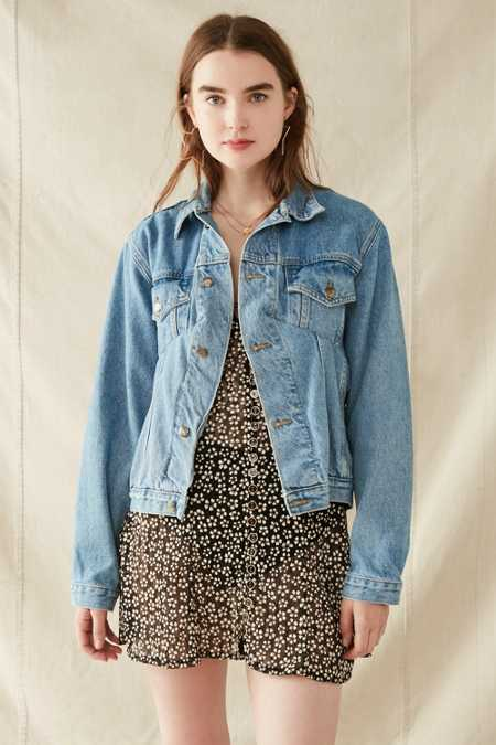 Urban Renewal Recycled Seamed Denim Trucker Jacket