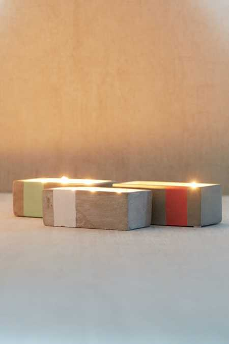 Rectangular Concrete Candle