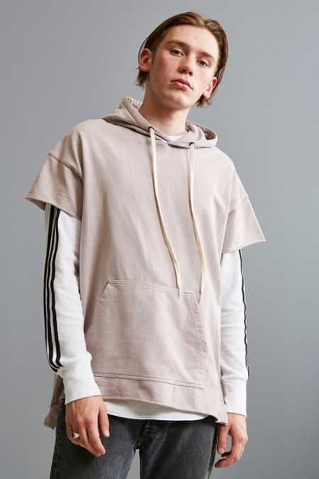 UO Faded Short Sleeve Hoodie Sweatshirt