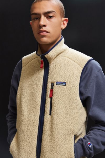 Patagonia Retro Pile Fleece Vest - Taupe S at Urban Outfitters
