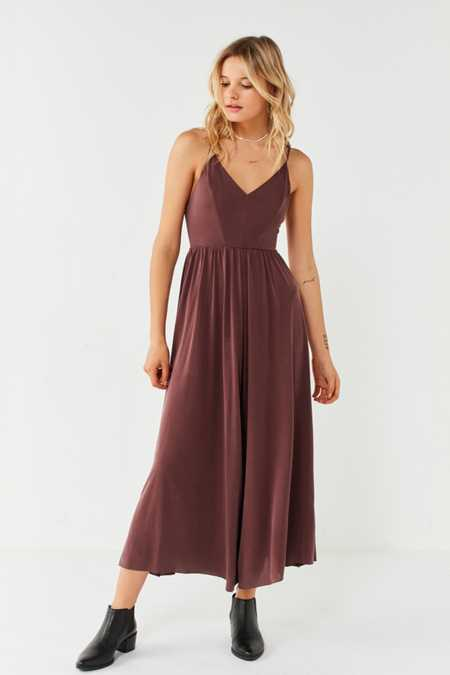 Silence + Noise Molly Cupro Culotte Jumpsuit