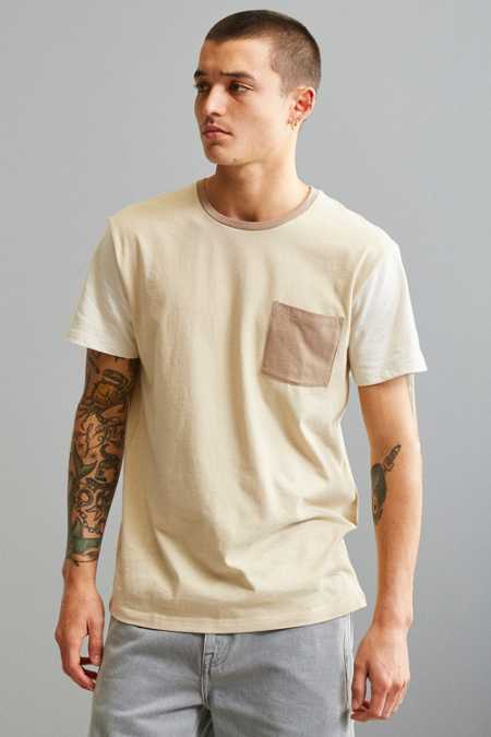 UO Standard Fit Colorblock Pocket Tee