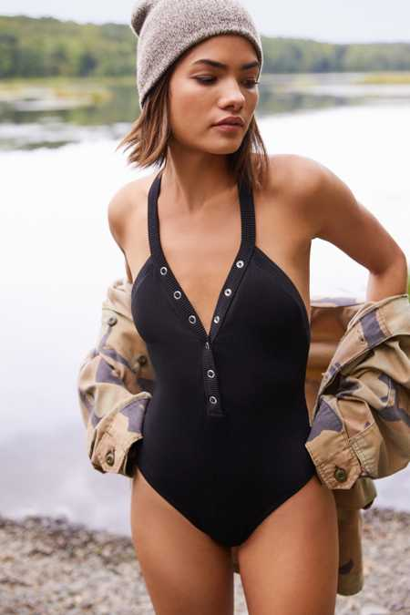 Out From Under Kelly Snap-Up One-Piece Swimsuit
