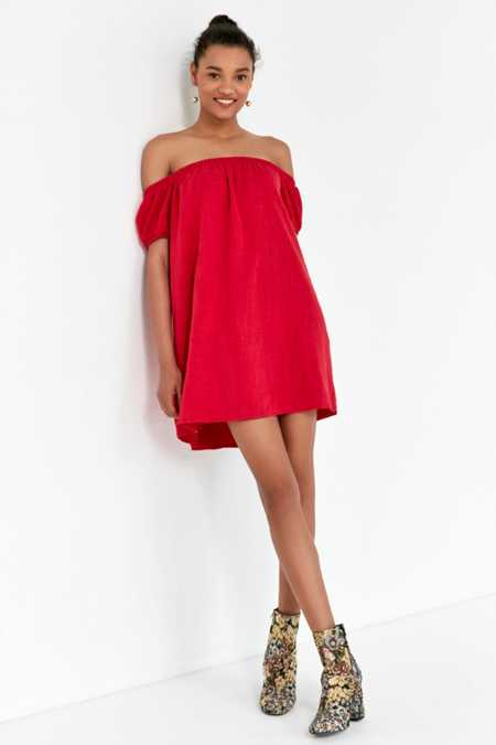 Cooperative Off-The-Shoulder A-Line Mini Dress