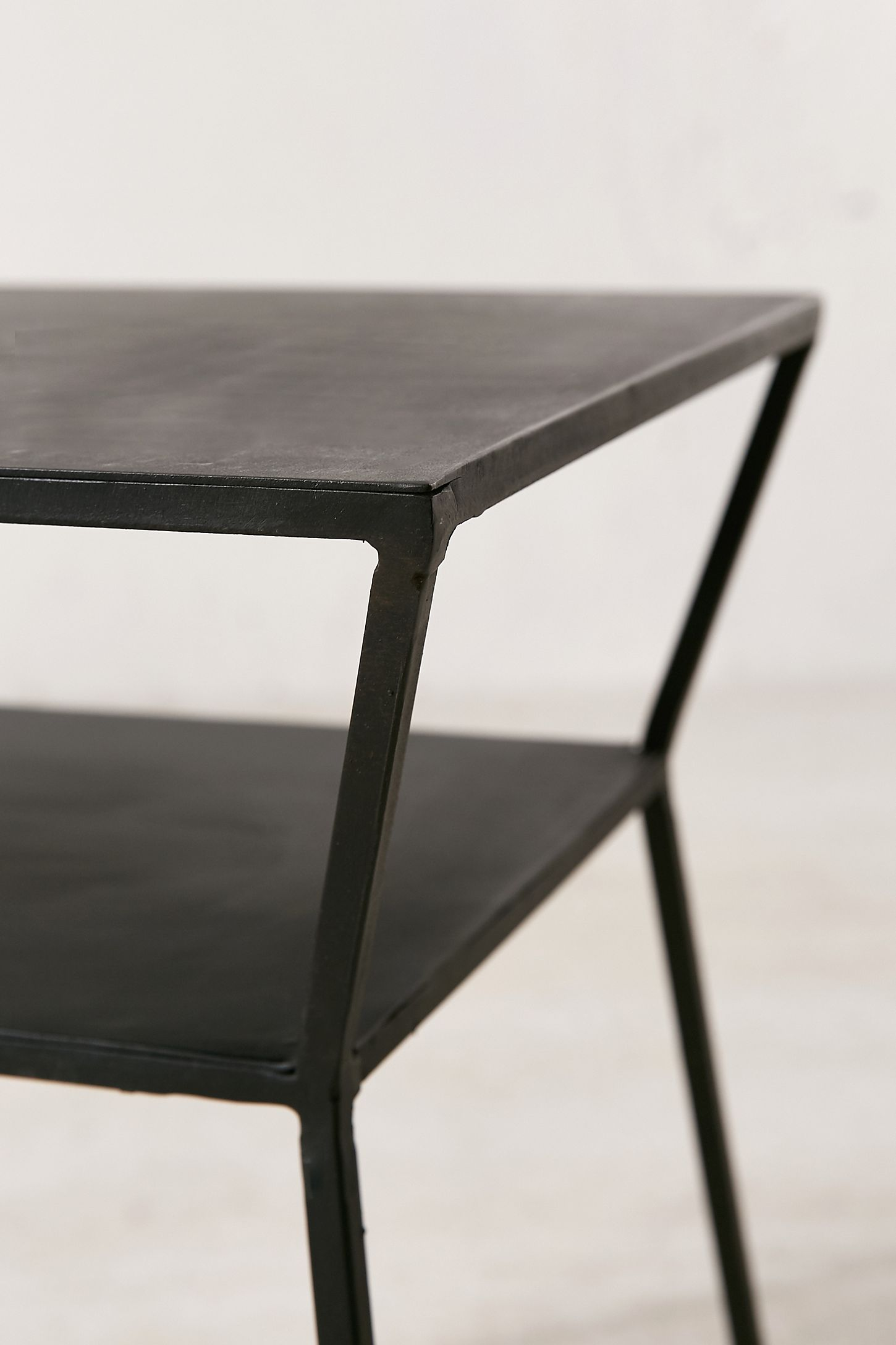 round tray industrial by metal modern side zuo chic tables products table