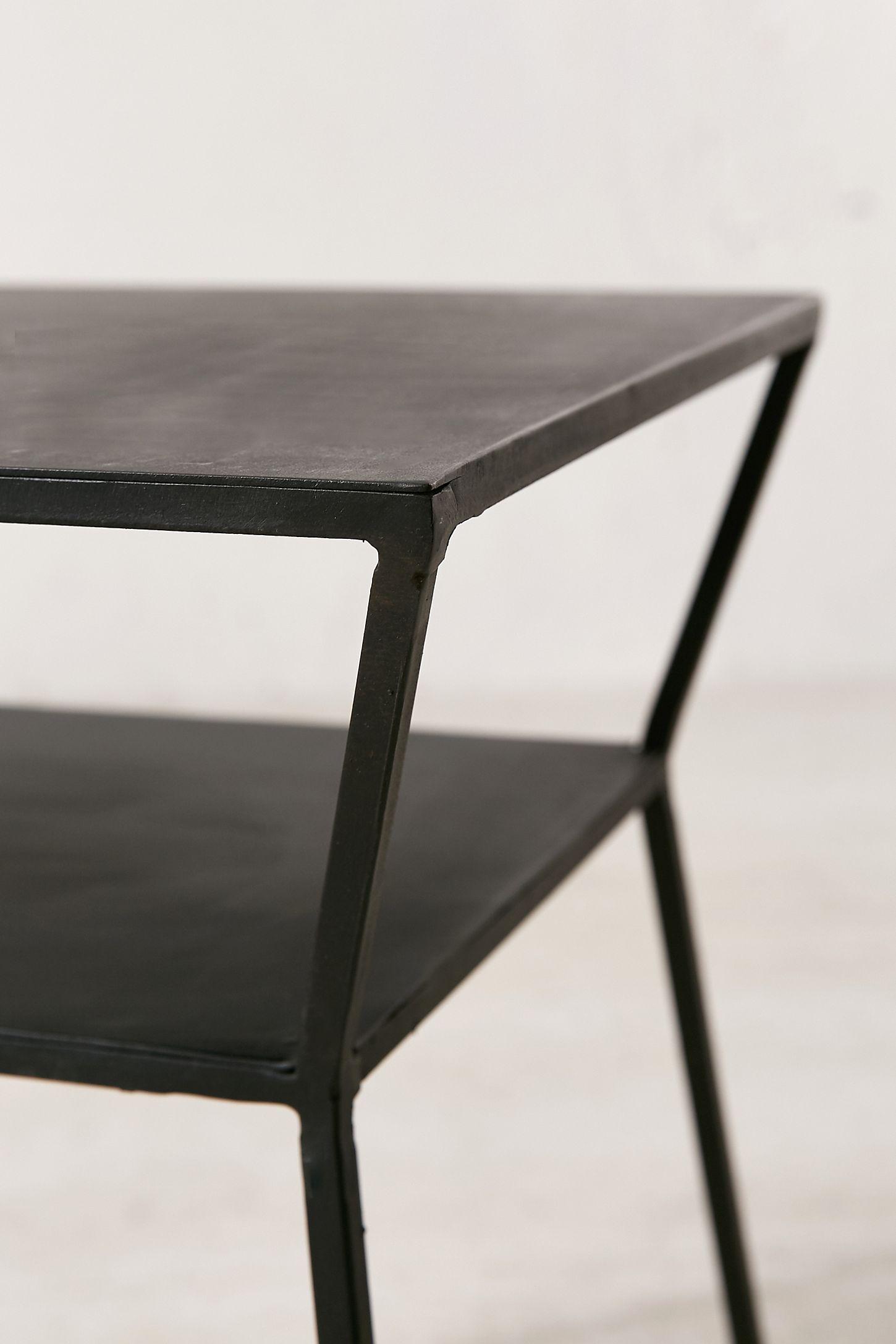 veneer modern en furniture table bouclair wood and metal side com