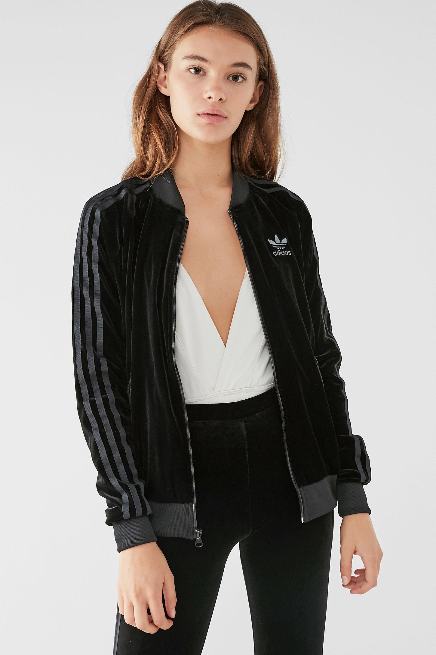 dc44960a7b11 Adidas Firebird Track Jacket Black Velvet