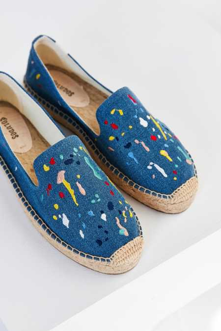 Soludos Splatter Paint Platform Smoking Slipper