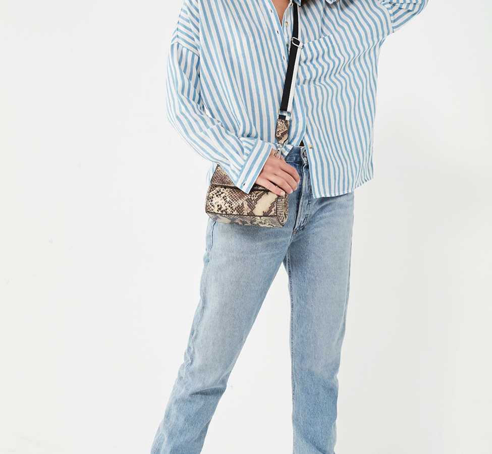 Slide View: 2: BDG Striped Twill Button-Down Shirt