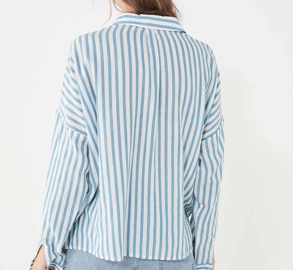Slide View: 3: BDG Striped Twill Button-Down Shirt