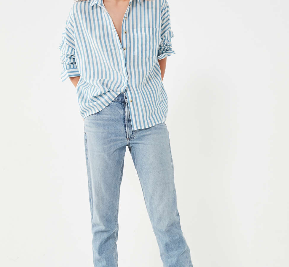 Slide View: 6: BDG Striped Twill Button-Down Shirt