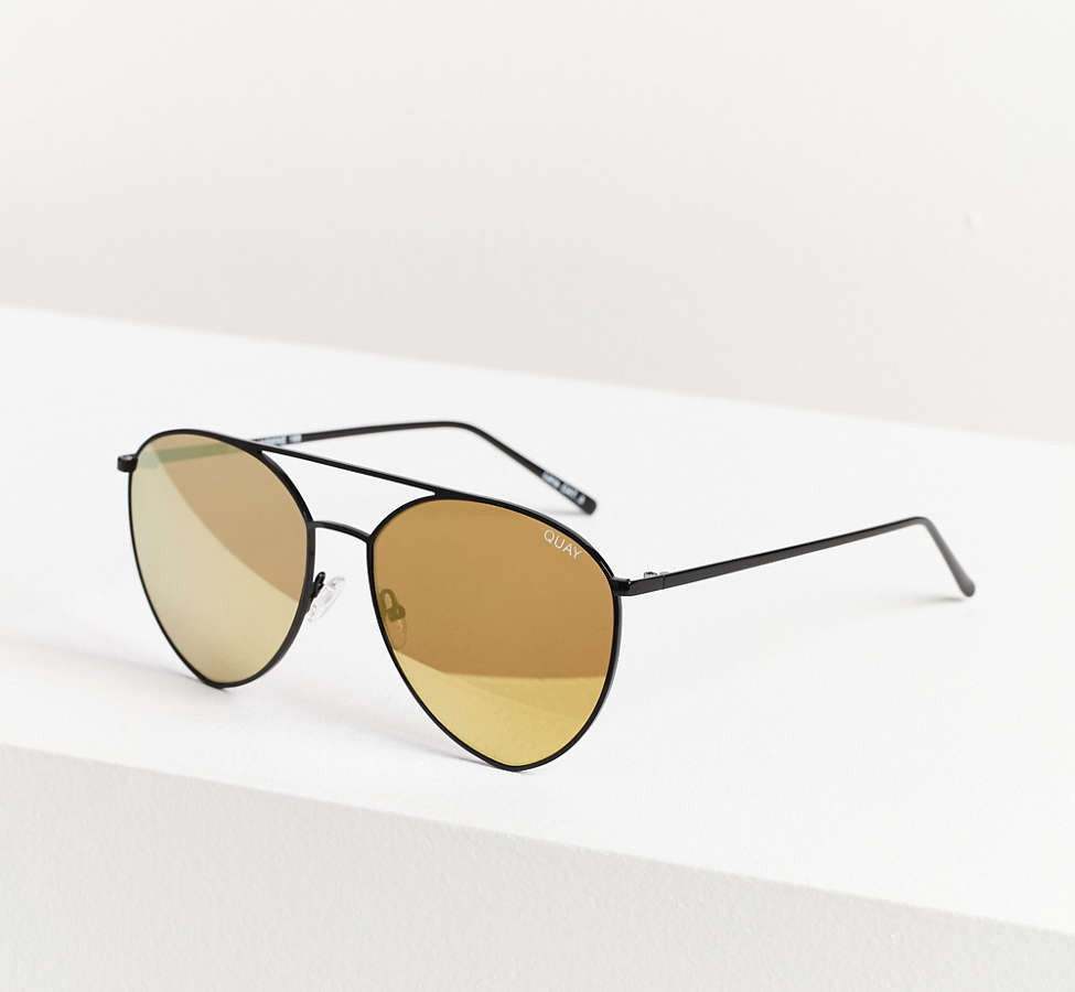 Slide View: 2: Quay X Jasmine Sanders Indio Metal Sunglasses