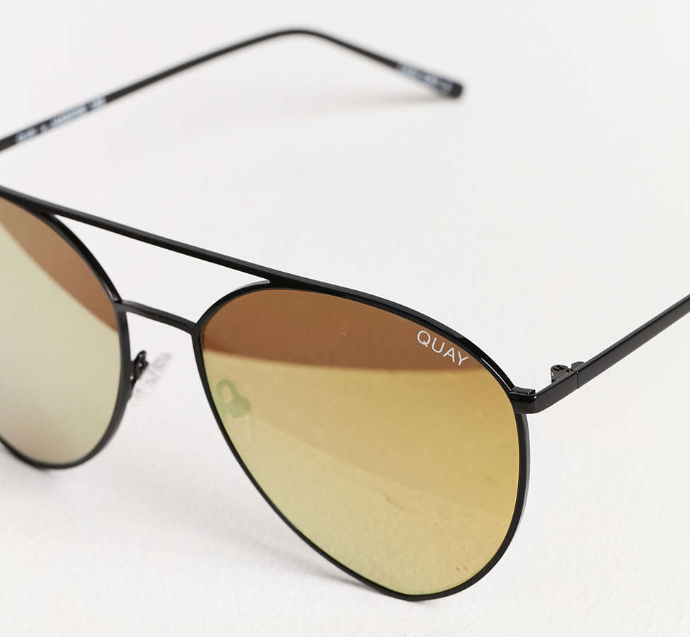 Slide View: 3: Quay X Jasmine Sanders Indio Metal Sunglasses