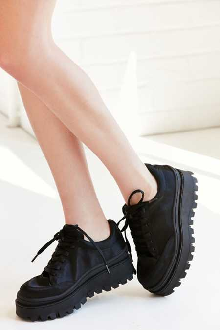 Jeffrey Campbell Top Peak Satin Platform Sneaker
