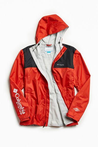 Columbia PFG Storm Jacket - Red Multi M at Urban Outfitters