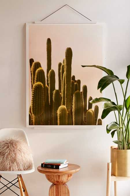 Wilder California Golden Hour Cactus Art Print