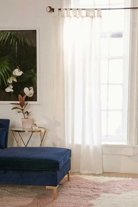 Galyn Metallic Stripe Window Curtain