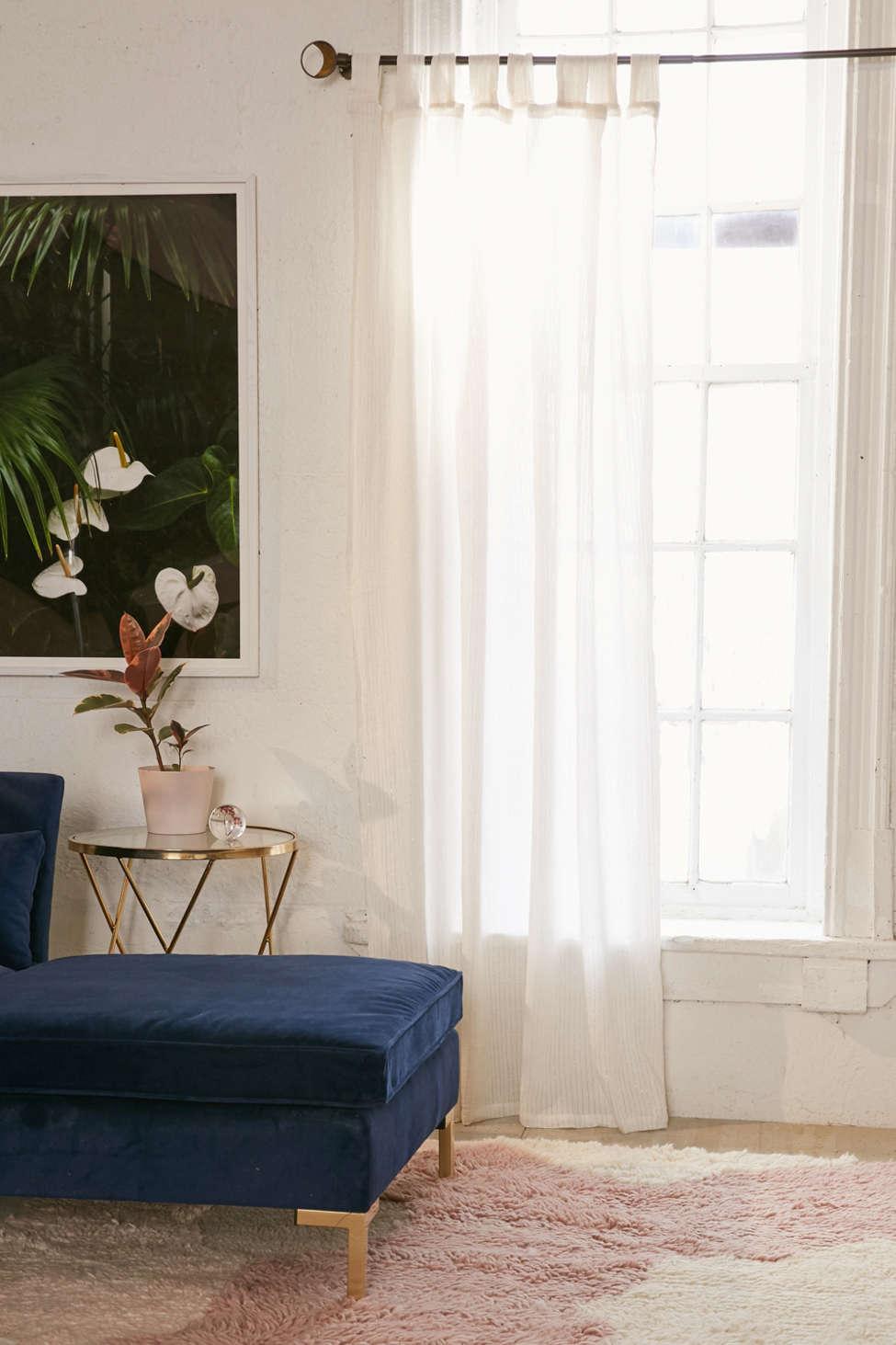 Slide View: 1: Galyn Metallic Stripe Window Curtain