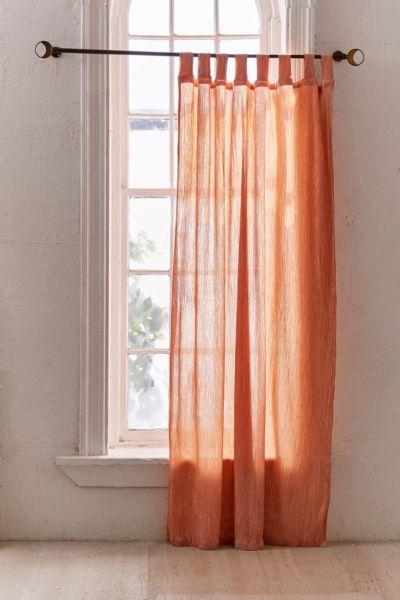 Galyn Metallic Stripe Window Curtain - Rust 84