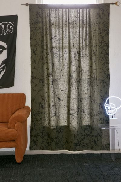 Batik Blackout Window Curtain - Olive 84