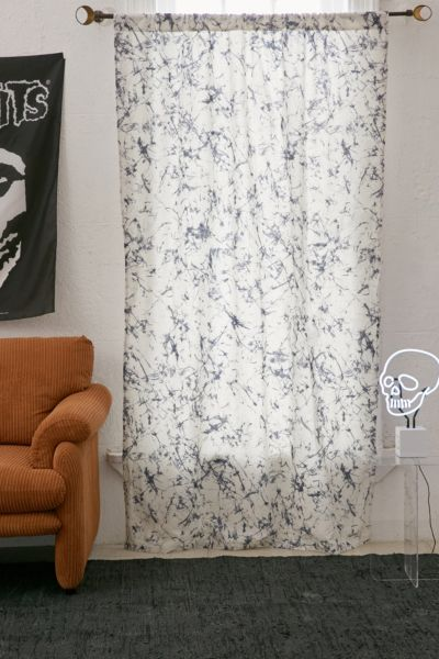 Batik Blackout Window Curtain - Blue 84