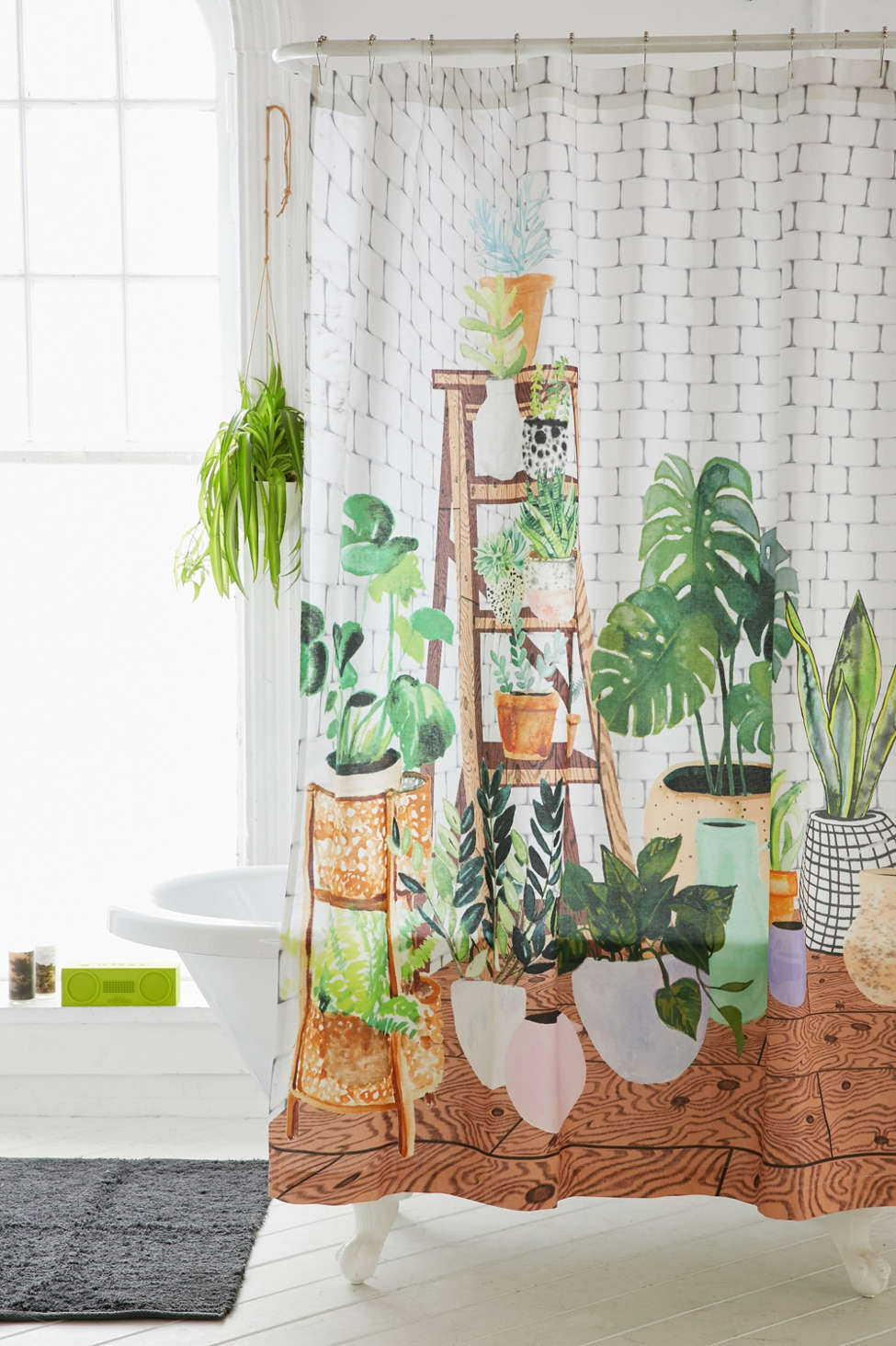 Slide View: 1: Plant Dreams Shower Curtain