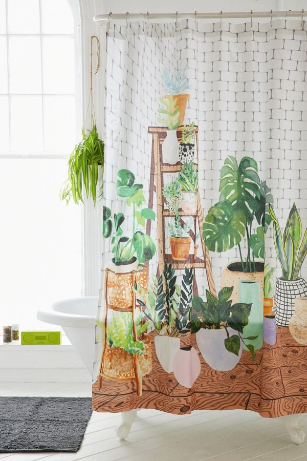 Your Urban Outfitters Gallery Plant Dreams Shower Curtain