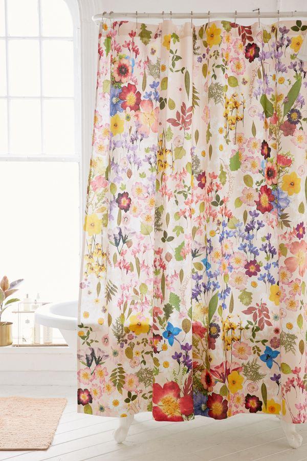 Pressed Flower Shower Curtain