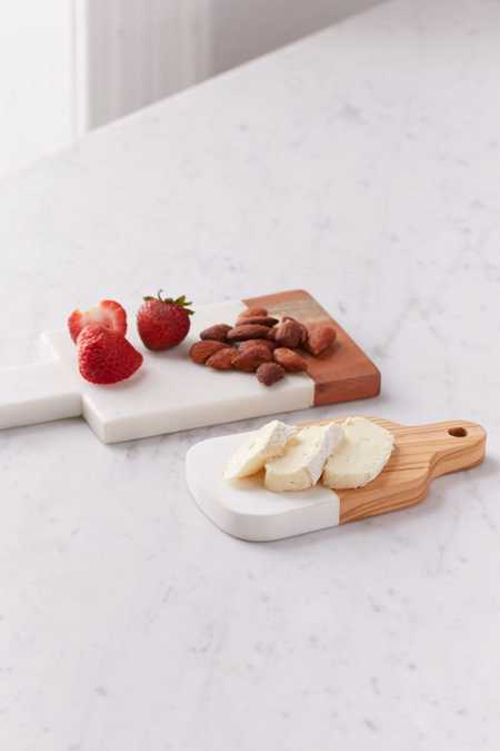 Inlaid Marble Cutting Board Set