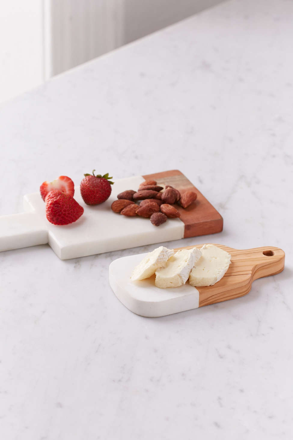 Slide View: 1: Inlaid Marble Cutting Board Set