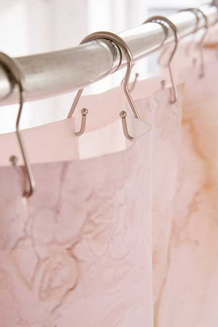 Slide View: 2: Double Metal Shower Curtain Hooks Set