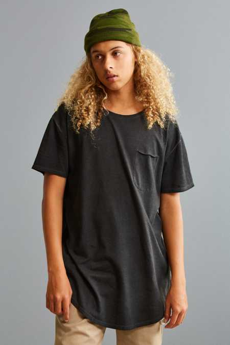 UO Resin Long Loose Scoopneck Pocket Tee