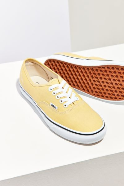 Vans Citron Authentic Sneaker - Yellow 3 1/2 at Urban Outfitters